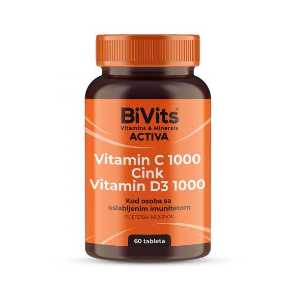Vitamin C 1000 & Zinc & Vitamin D3 – BiVits